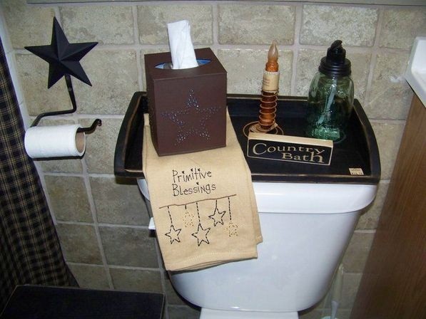 Primitive Farmhouse Over The Toilet Table Country Bathroom Decor Storage In On Alibaba