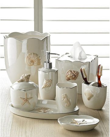 5 great ideas for bathroom decor bathroom designs ideas for Seashell bathroom accessories