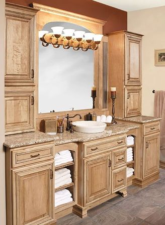 Custom bathroom vanities top tips for womans bathroom for Custom bathroom cabinets