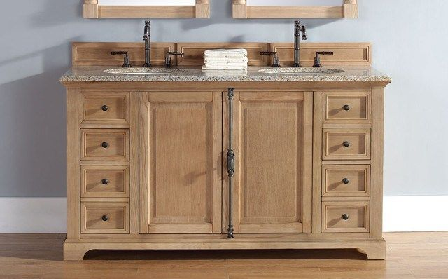 Unfinished bathroom vanities top tips bathroom designs for Bathroom cabinets natural wood