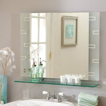 Small bathroom mirrors and big ideas for interior small for Mirror on mirror decorating for bathroom