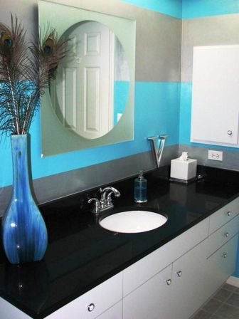 Turquoise bathroom decoration as the most popular bathroom for Most popular bathroom designs