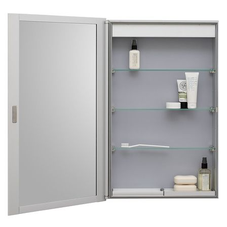 Slim bathroom cabinet bathroom designs ideas for Slim mirrored bathroom cabinet