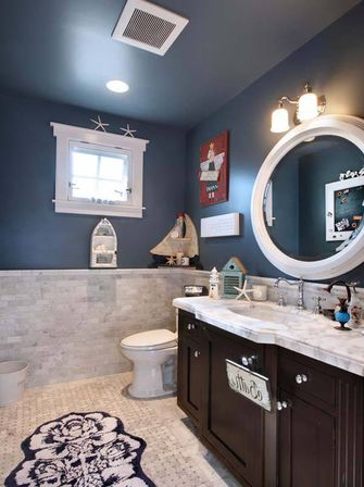 Making nautical bathroom d cor by yourself bathroom for Coastal bathroom design