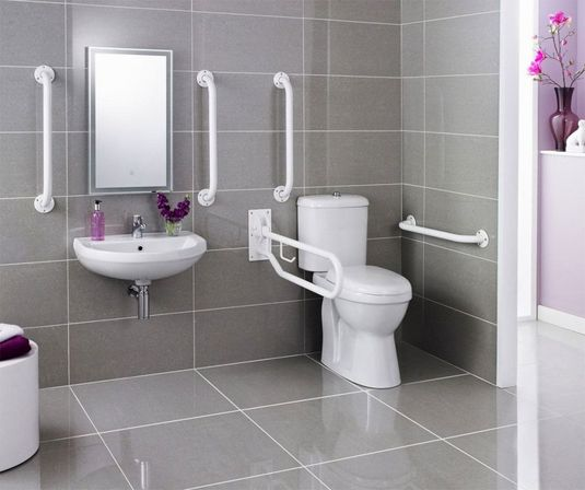 7 great ideas for handicap bathroom design bathroom for Toilet and bath design ideas