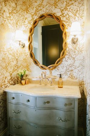 Gold bathroom mirror the available luxury bathroom for Gold bathroom mirror