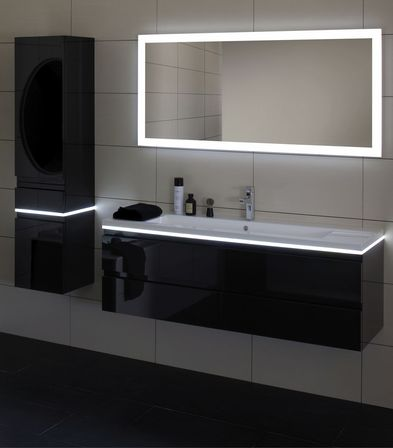 Bevelled mirror with led light is a harmonious combination of modern  technology and antiquity  Bevelled mirrors were invented in Medieval Venice. Led bathroom mirror  the best solution in the interior   Bathroom