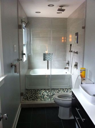 Master bathroom remodel with cabins of glass bathroom Bathroom remodel design