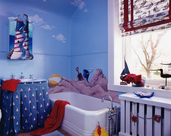 Lighthouse bathroom d cor for the bravest experimentors for Bathroom theme ideas