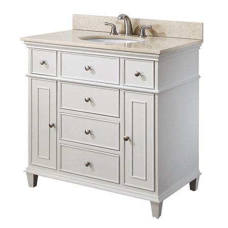 What Are Some Ways You Can Arrange White Bath? 36 White Bathroom Vanity