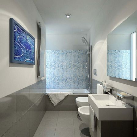 Small bathroom design ideas special ideas creative mosaic bathroom - Small Bathroom Design Ideas Special Ideas Creative Mosaic Bathroom 14