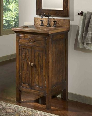 The Choice Of Floor Coverings. Rustic Bathroom Vanity