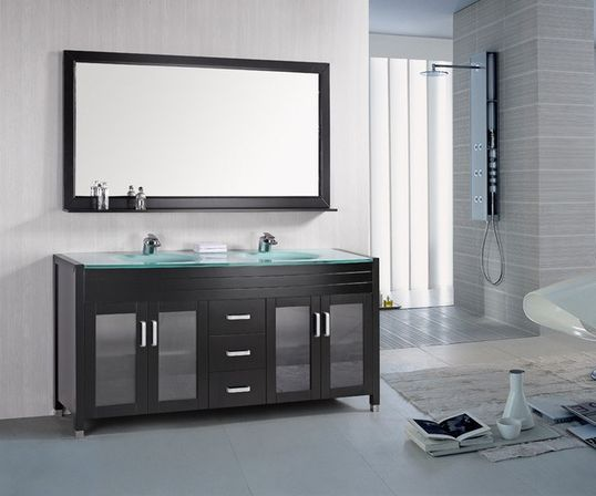 Contemporary bathroom vanities 14 photo bathroom for Contemporary bathrooms