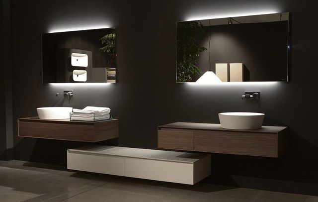 The mirror with decorative lighting  Such backlit bathroom mirrors do not  carry a functional load  and its purpose is d cor. Backlit bathroom mirror  from designer s tips to own project