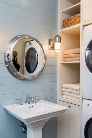 Mirror special aspects of the sea style bathroom designs ideas