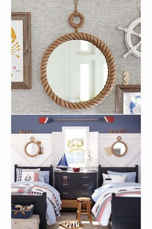 Concepts for bathroom mirrors pros and cons bathroom designs ideas - Nautical Bathroom Mirror Special Aspects Of The Sea Style