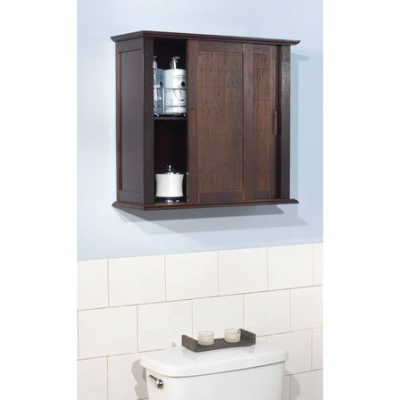 Espresso bathroom wall cabinet top photo bathroom for Espresso bathroom ideas