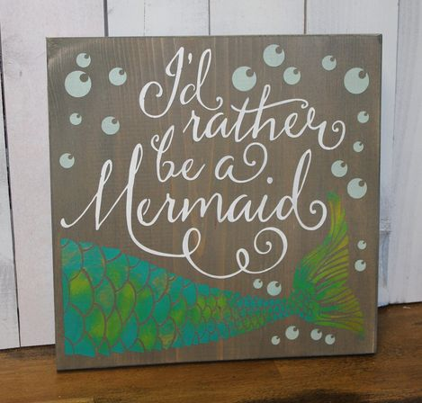 Mermaid board for bathrooms