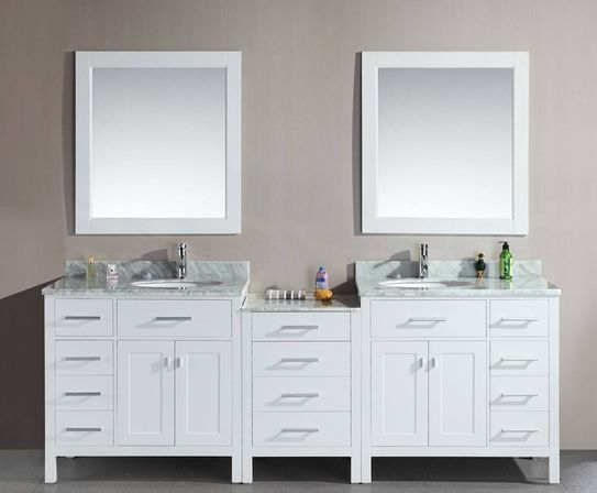 The Double Sink Bathroom Vanity.