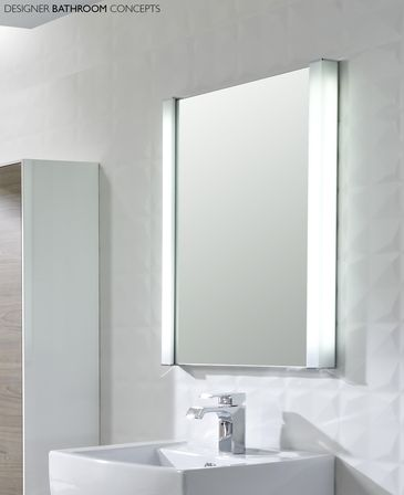 Illuminated bathroom mirror for stylish interior : Bathroom designs ...