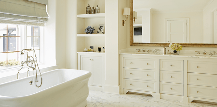 Beautiful and practical lining in using bathroom decor for Bathroom decor trends 2016