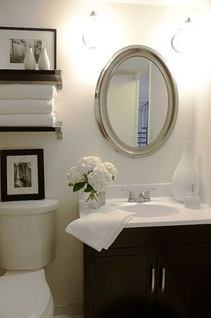 Small bathroom decor 6 secrets bathroom designs ideas for Half bathroom designs