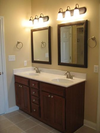 Double sink bathroom vanity 72 60 48 inch photo for Double basin bathroom sinks