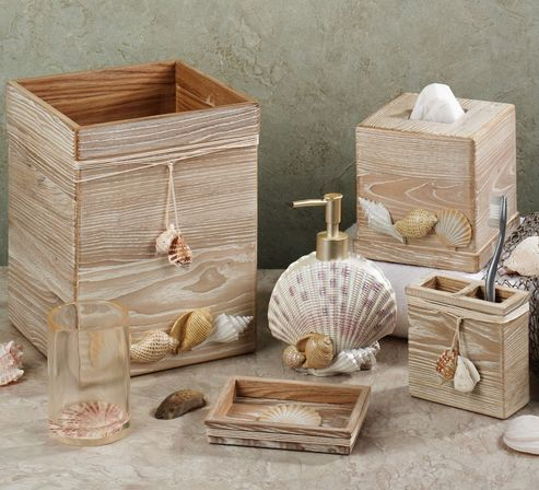 Seashell bathroom decor 2 types 30 photo bathroom for Accessoire decoration