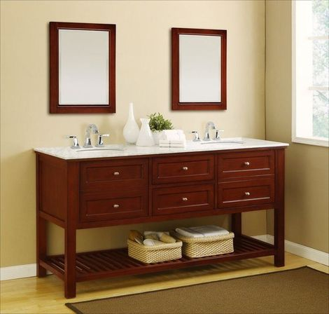 Double sink bathroom vanity 72 60 48 inch photo for Double sink bathroom vanity
