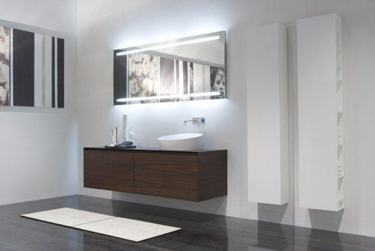 The Mirror With Decorative Lighting Such Backlit Bathroom Mirrors Do Not Carry A Functional Load And Its Purpose Is Dcor
