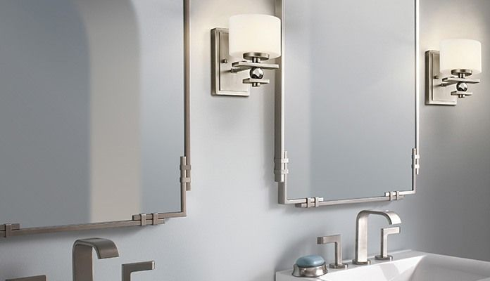 Brushed nickel mirror bathroom my web value Bathroom wall mirrors brushed nickel