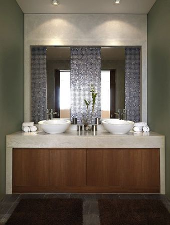 Contemporary bathroom mirrors for stylish interiors for Bathroom mirror ideas