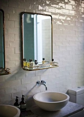 specials mirror in the bathroom stainless steel