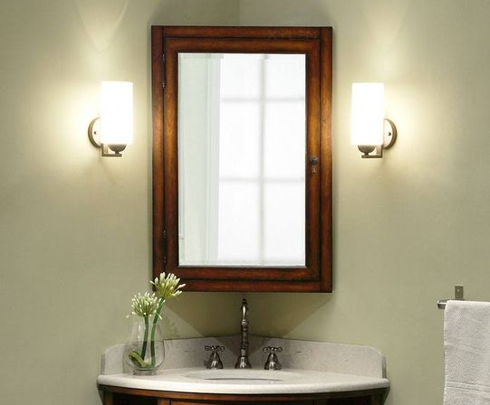 Bathroom medicine cabinets with mirrors useful furniture Corner medicine cabinet
