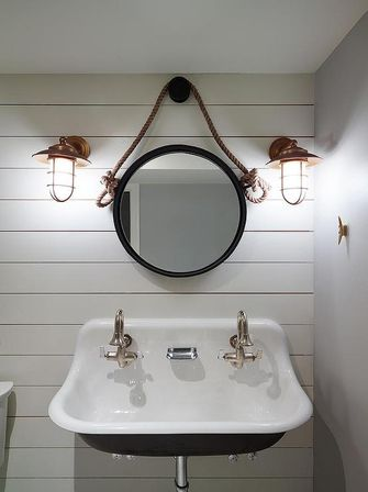 Nautical bathroom mirror special aspects of the sea style bathroom designs ideas