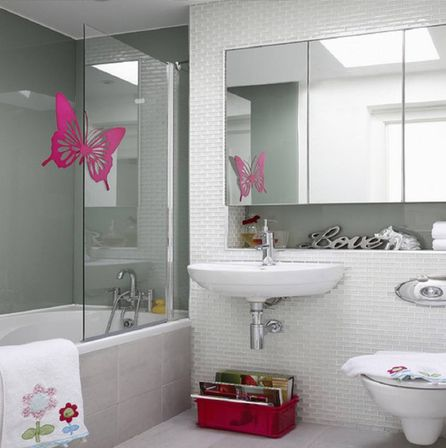 Cute bathroom decor and it 39 s interior features bathroom for Bathroom ideas without bathtub