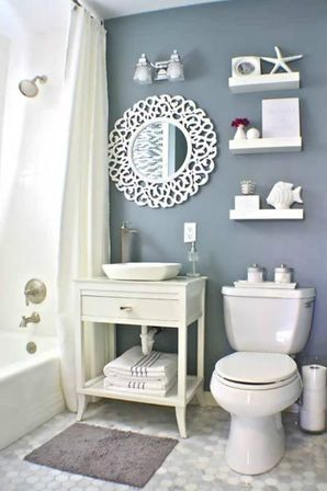 Making nautical bathroom d cor by yourself bathroom for Restroom decoration pictures
