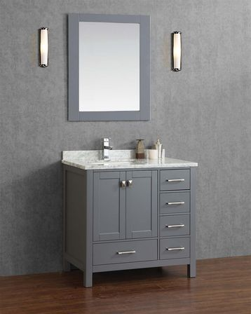 Grey bathroom vanity 12 photo bathroom designs ideas for Bathroom ideas vanity