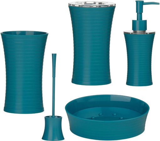 Turquoise bathroom decoration as the most popular bathroom for Teal bathroom accessories sets