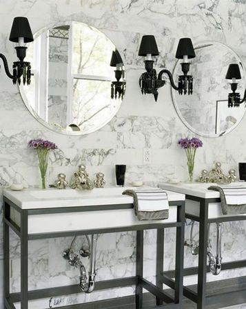 Paris Themed Bathroom Decor. Walls Trim Easy. Will Approach A Simple  Painting Or Decorative Plaster Or Tile. Practicality Tile Select Monophonic  Or With ...