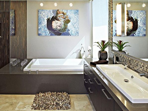 5 great ideas for bathroom decor bathroom designs ideas for Bathroom mural ideas
