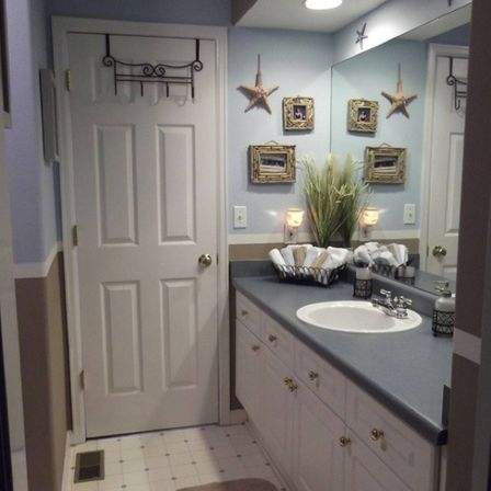 Making nautical bathroom d cor by yourself bathroom for Decorated bathrooms photos