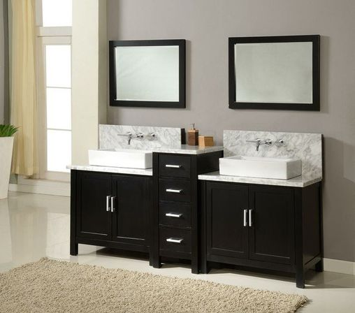 how to choose the right size of the double sink bathroom vanity