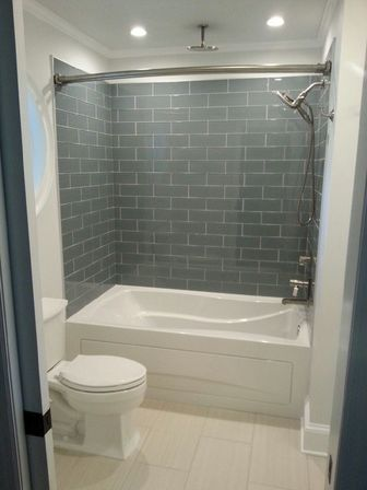 Master bathroom remodel with cabins of glass bathroom for Master bathroom grey tile