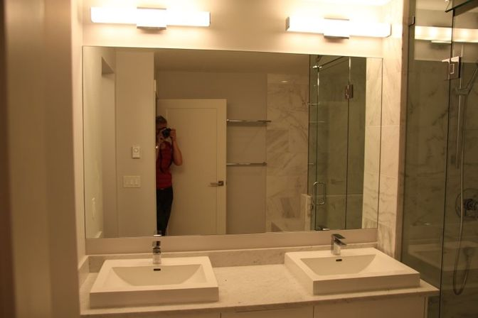 New Most Bathroom Remodels Fall In The $10,000 To $30,000 Range  We Are Currently Installing Custom Mirrors And Also Trimming Out The Mirrors So They Look Like