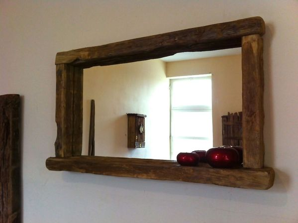choosing bathroom mirror with shelf shape materials and color for