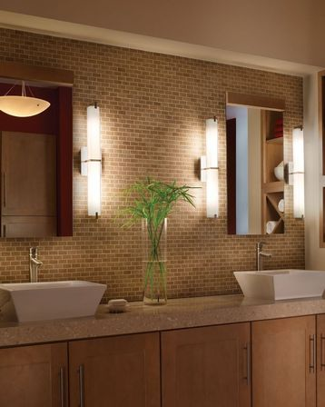 Lighted bathroom mirror with shelf. Shelf is a practical bathroom accessory which provides an extra space for storage and prevents bathroom sink from ... & Six lighting concepts for bathroom mirrors: pros and cons ... azcodes.com