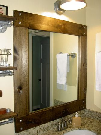 Framed bathroom mirrors best way to give unique character for Bathroom mirror ideas