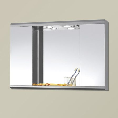 Bathroom mirror cabinet - Floor Mirror Cabinet Is Big Enough To Accommodate All Possible Bathroom Accessories Including Dirty Linen Bin Being Tall Its Door Forms A Large Mirror