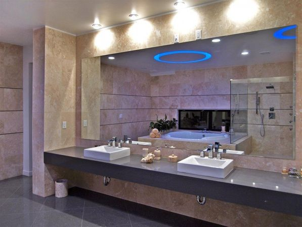 Vanity Lights Of Vegas : Large bathroom mirror: 3 design ideas Bathroom designs ideas